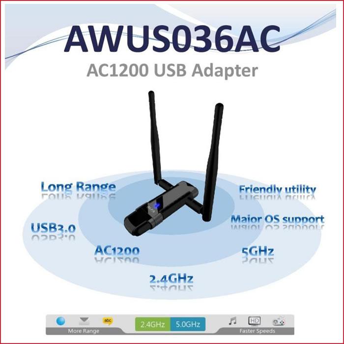 Alfa AWUS036AC 802 11ac 867 Mbps Long Range WiFi USB DUAL BAND