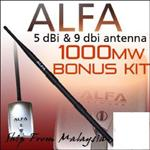 Alfa AWUS036H + Y Cable + 9dBI ARS-N19 Dipole Antenna + MOUNT!