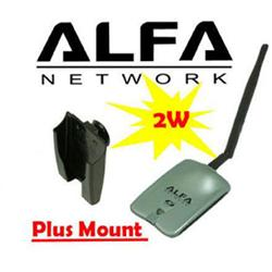 Alfa AWUS036NH 802.11n WIRELESS-N + USB Y Cable Wifi adapter