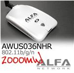 Alfa AWUS036NHR 2000mW Latest Realtek 8188RU+ Y cable