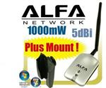 Alfa AWUS036H Usb Wifi + Y Cable + Mount + Clip