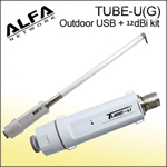 Alfa Network Tube-U(G)  + 12 dBI Omni Outdoor Antenna
